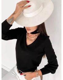 Дамска блуза в черно - код 2133