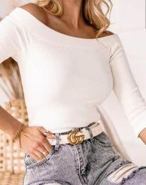 Изчистена дамска блуза в бяло - код 2805
