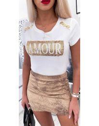 Тениска - код 3680 - бяло