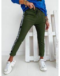 Дамски панталон в маслено зелено  - код 3062