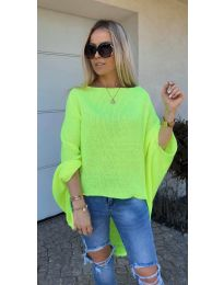 Дамска блуза в неоново зелено - код 937