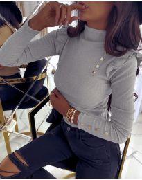 Дамска блуза в сиво - код 6566