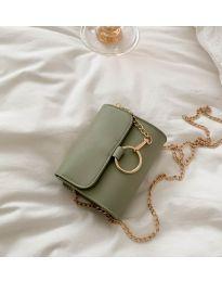 Дамска чанта в светло зелено - код B45