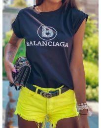Дамска тениска в черно - код 5357