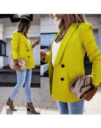 Елегантно дамско сако в неоново жълто - код 949