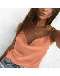 Свободен дамски топ в оранжево - код 3077