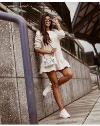 Дамска рокля в бяло - код 11512