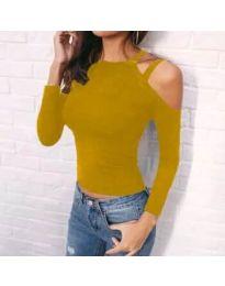 Дамска блуза в цвят горчица - код 952