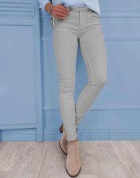 Изчистен дамски панталон в сиво - код 0325