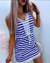 Атрактивна дамска рокля в синьо - код 20100