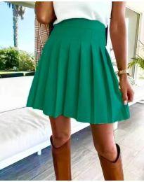 Кокетна плисирана пола в зелено - код 8116