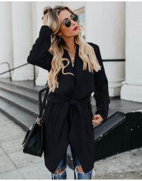 Дамско палто в черно - код 814