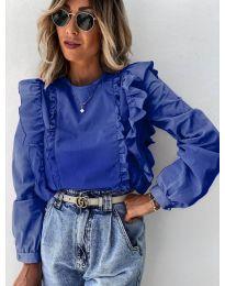 Дамска блуза в тъмно синьо - код 6615