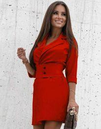 Дамска рокля в червено - код 1356
