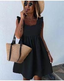 Стилна рокля в черно - код 818