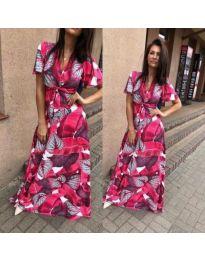 Дълга дамска рокля в циклама - код 234