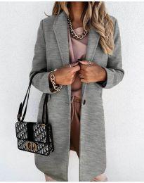 Свободно палто в сиво - код 7709
