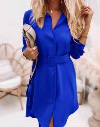 Дамска рокля в синьо - код 7490