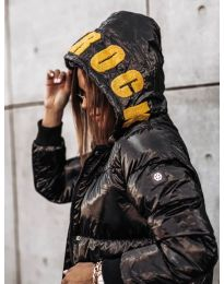 Ефектно черно яке - код 7222