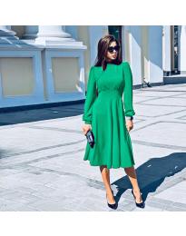 Изчистена дълга рокля в зелено - код 4572