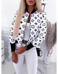 Яке в бяло с атрактивен десен - код 9196