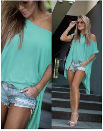 Дамска тениска в цвят мента - код 0909