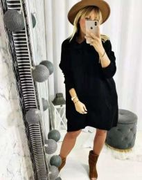 Дамска рокля в черно - код 2933