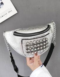 Дамска чанта в сребристо - код B298