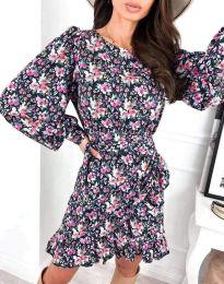 Стилна дамска рокля - код 8114 - 3