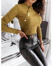 Дамска блуза в бежово - код 41788