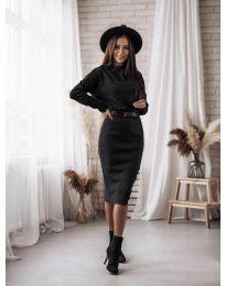 Изчистена рокля в черно - код 7719