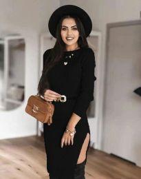 Дамска рокля в черно - код 0956