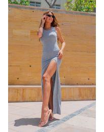 Атрактивна дамска рокля в сиво- код 11966