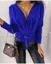 Атрактивна дамска блуза в синьо - код 5525