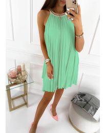 Изчистена рокля в зелено - код 1172