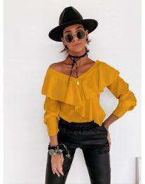 Дамска блуза в цвят горчица - код 6030