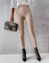 Елегантен дамски панталон в бежово - код 4895