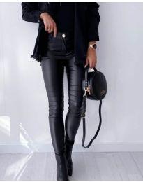Елегантен дамски черен панталон - код 7747