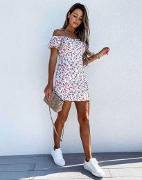 Атрактивна рокля с цветен десен - 6251 - 2