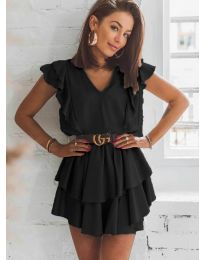 Феерична рокля в  черно- код 7173