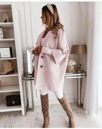 Свободно палто в розово - код 916