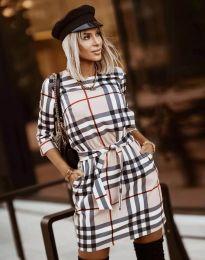 Дамска рокля с ефектен десен - код 3794 - 8