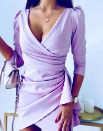 Елегантна рокля в лилаво - код 32897