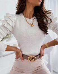 Екстравагантна дамска блуза в бяло - код 3608