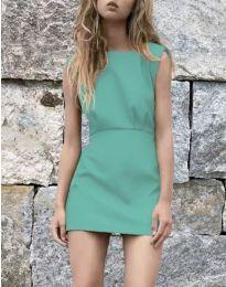 Дамска рокля в цвят тюркоаз - код 1233