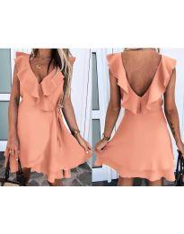 Екстравагантна рокля в розово - код 7799