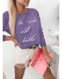 Дамска блуза в лилаво - код 3997