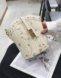 Атрактивна дамска чанта в цвят шампанско - код B294