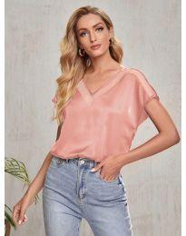Атрактивна дамска тениска в розово - код 5754
