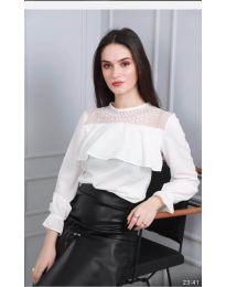 Дамска блуза в бяло - код 0628